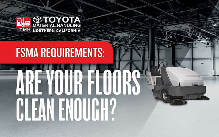 FSMA requirements for clean floors food processing plants