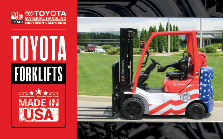 Toyota Forklifts are Made in Columbus Indiana USA