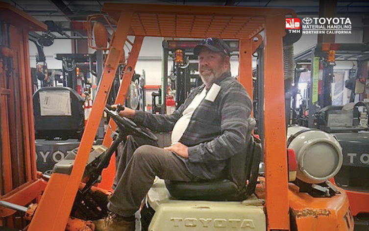 Toyota LP forklift used for farming