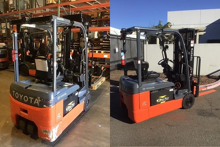 refurbished used forklift in sacramento salinas fresno east bay