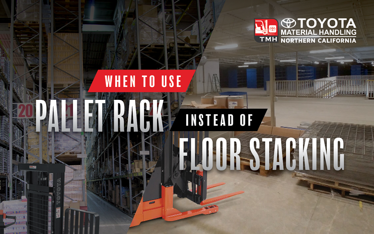 When to Use Pallet Rack Instead of Floor Stacking in Your Warehouse