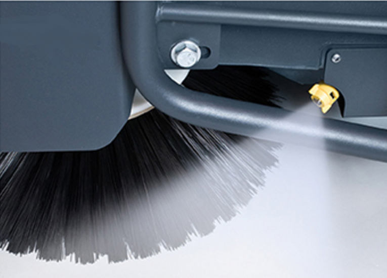 silica dust control sweeper