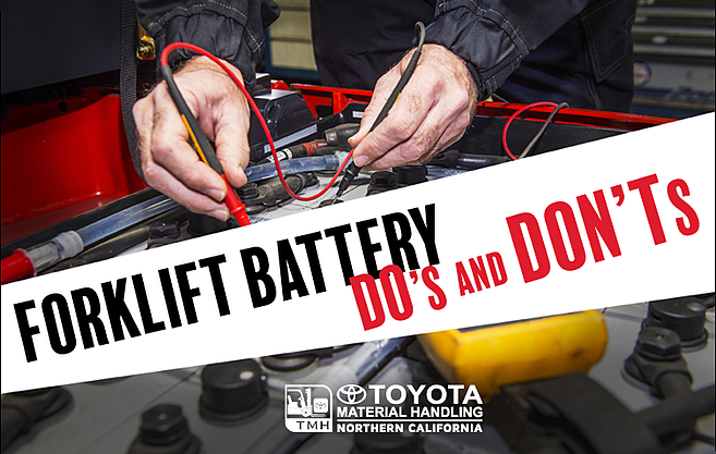forklift battery do's and don'ts
