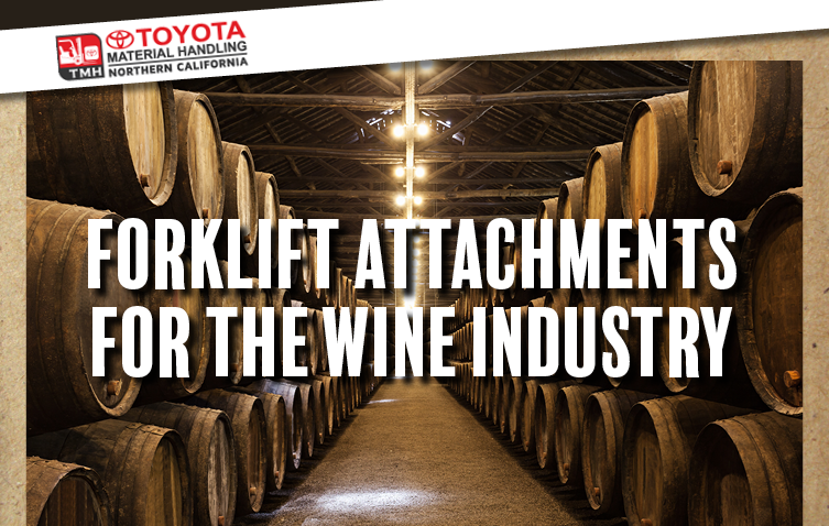 forklift attachments for the wine industry