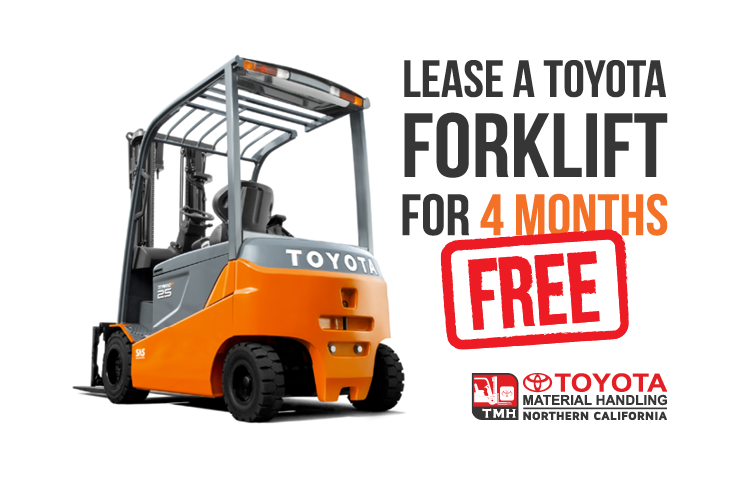 lease a toyota forklift for 4 months free