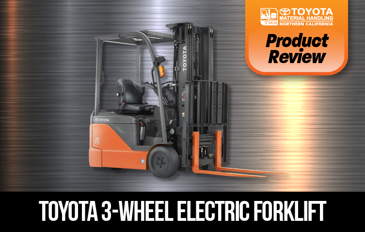 product review 3-wheel electric forklift