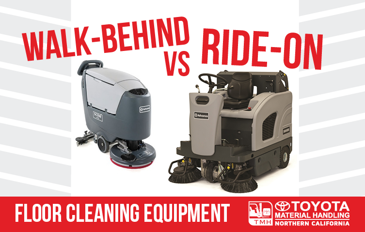 walk-behind vs ride-on floor cleaning equipment