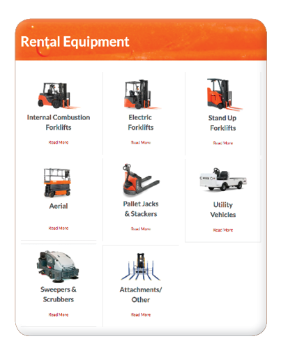 Forklift rental equipment