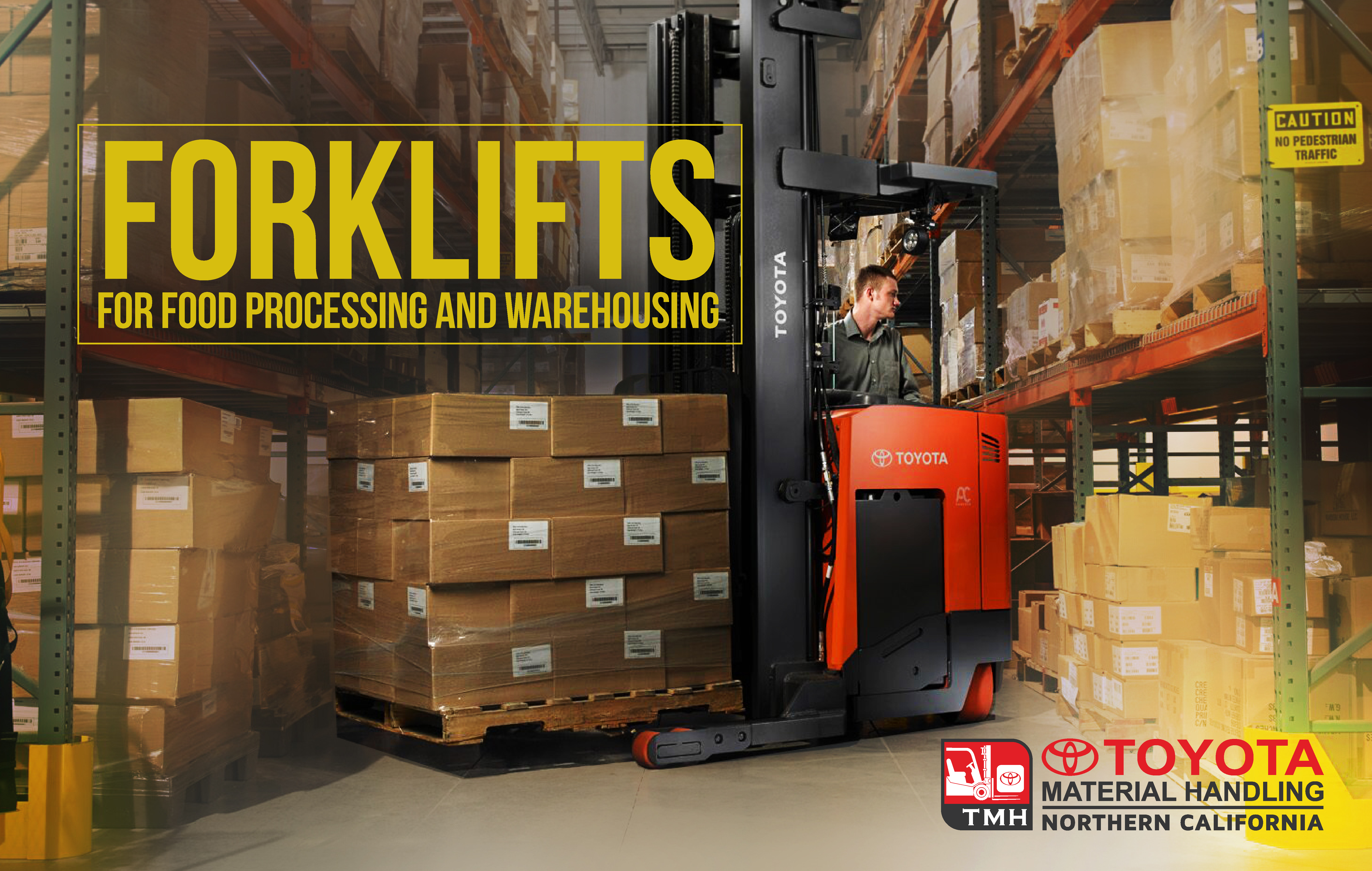 forklifts for food processing and warehousing