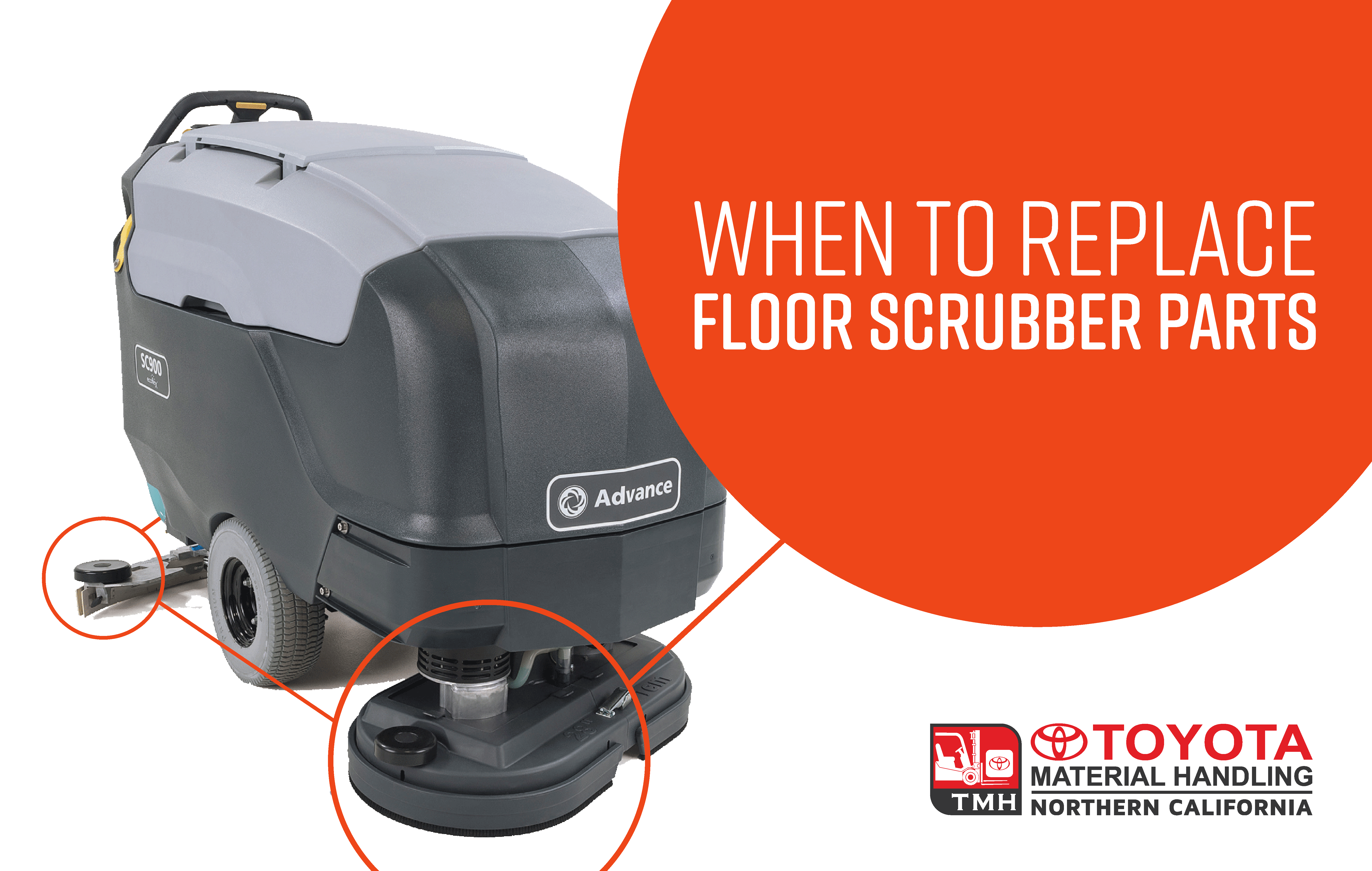 when to replace floor scrubber parts