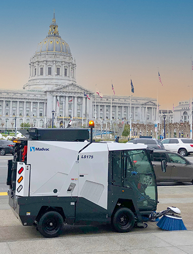 San Francisco Capitol Building with LS175 Sweeper in front